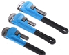 3 x BERENT Pipe Wrenches, 300mm, 250mm & 200mm. Buyers Note - Discount Frei