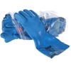 10 x MSA SOLVGARD PVC Palm Coated Grip Gloves, Size L, Flocked Lined, Blue.