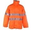 TORNADO Hi-Viz Breathable All Weather Jacket Size XL, Zip/ Velcro Front Clo