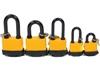5 x STELA Waterproof Padlocks, Sizes: 40mm, 2 x 50mm, 2 x 30mm. Buyers Note
