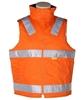 2 x WORKSENSE Day/Night Cotton Drill Vests, Size2XL, Cotton Lining, 3M Refl