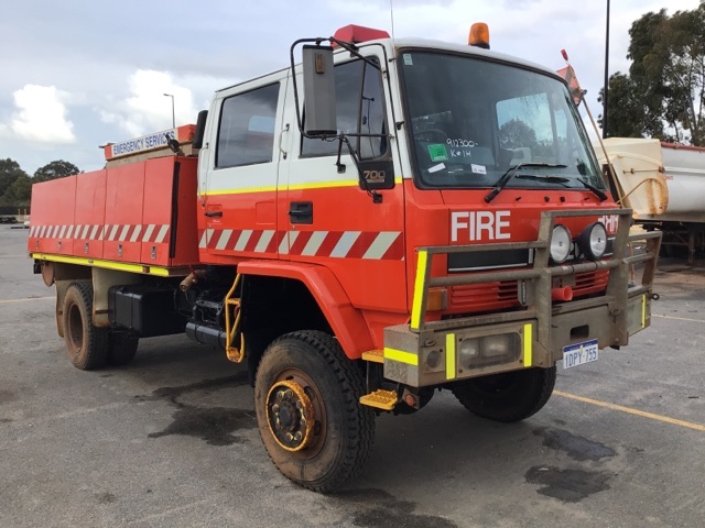 1995 Isuzu FTS 700 (4x4) Pumper / Tender Fire Truck