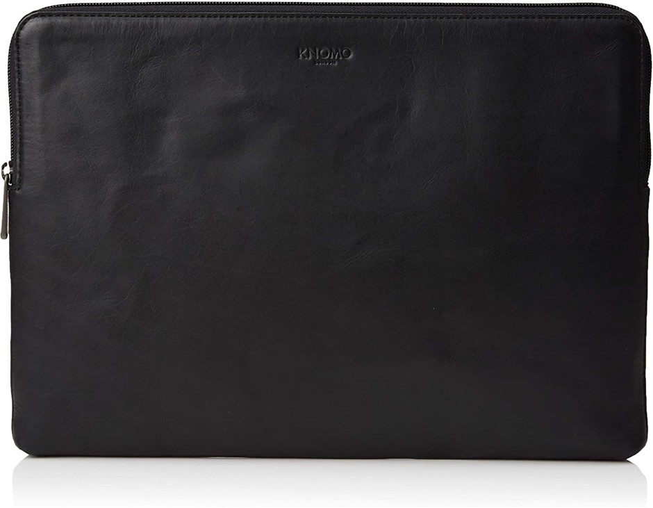 KNOMO Barbican 12`` Laptop Sleeve, Leather, Black. Buyers Note - Discount F