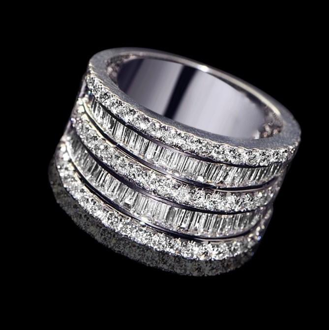 Chunky Simulated Diamond Statement Ring - US Size 7