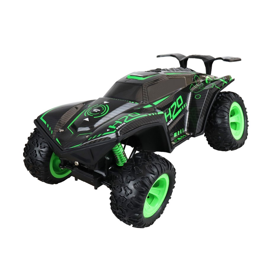 RC Climbing/Off-Road 4WD Car Toy with LED - Green