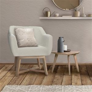 Artiss Fabric Tub Lounge Armchair - Beig
