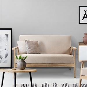 Artiss 2 Seater Fabric Sofa Chair - Beig