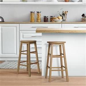 Artiss 2 x Wooden Bar Stools Bar Stool D