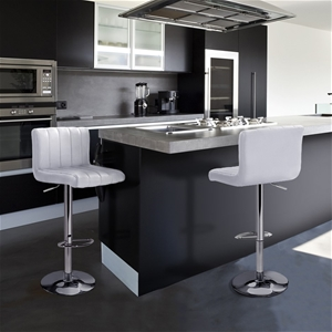 Artiss 2x Leather Bar Stools Chair Bar S