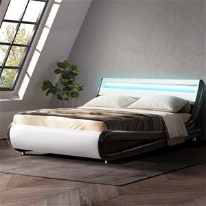 Artiss LED Bed Frame Double Base Mattres
