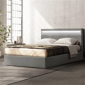 Artiss LED Bed Frame Queen Size Gas Lift