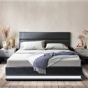 Artiss RGB LED Bed Frame King Size Gas L