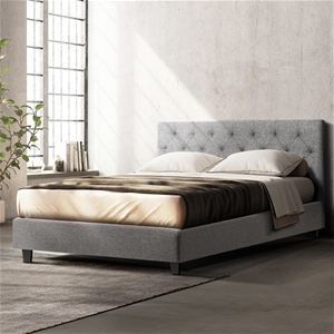 Artiss Queen Size Bed Frame VANKE Fabric