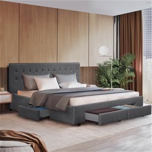 Artiss Queen Size Bed Frame 4 Storage Dr