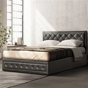 Artiss Tiyo Gas Lift Bed Frame - Double