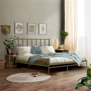 Metal Bed Frame Double Size Mattress Bas