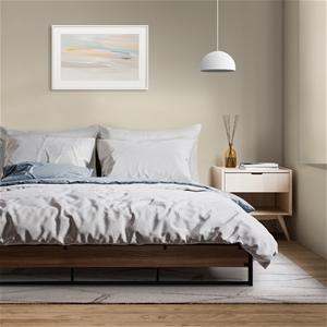 Metal Bed Frame Queen Mattress Base Plat