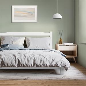 Artiss Queen Size Wooden Bed Frame Mattr