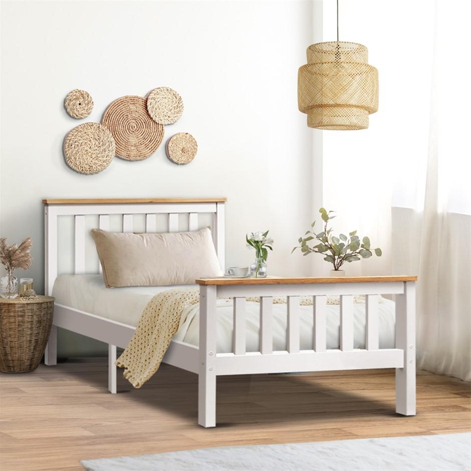 Artiss Single Wooden Bed Frame PONY Mattress Base Bedroom Furniture Kids