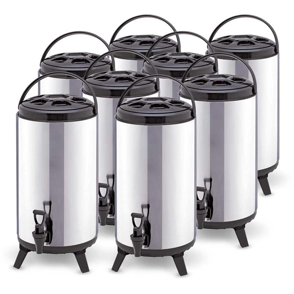 SOGA 8x 12L Portable Insulated Coffee Tea Beer Barrel Brew Pot W/ Dispenser