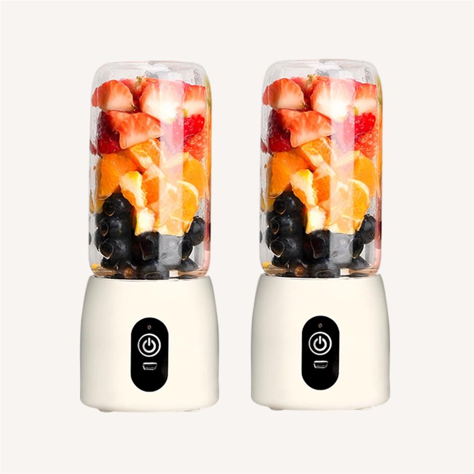 SOGA 2X Portable Mini USB Rechargeable Handheld Juice Extractor Fruit Mixer