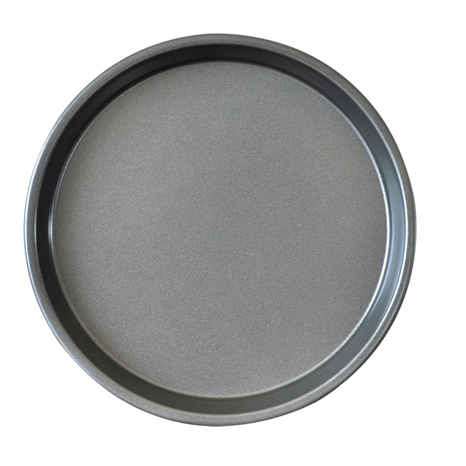 SOGA 7-inch Round Black Steel Non-stick Pizza Tray Oven Baking Plate Pan