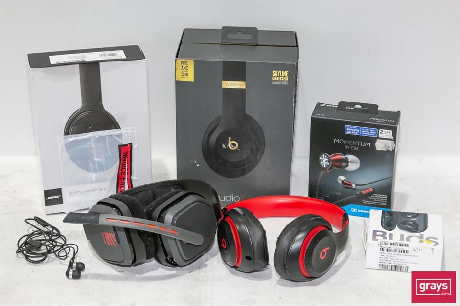Bundle of Assorted Used & Untested Headphones and Earphones
