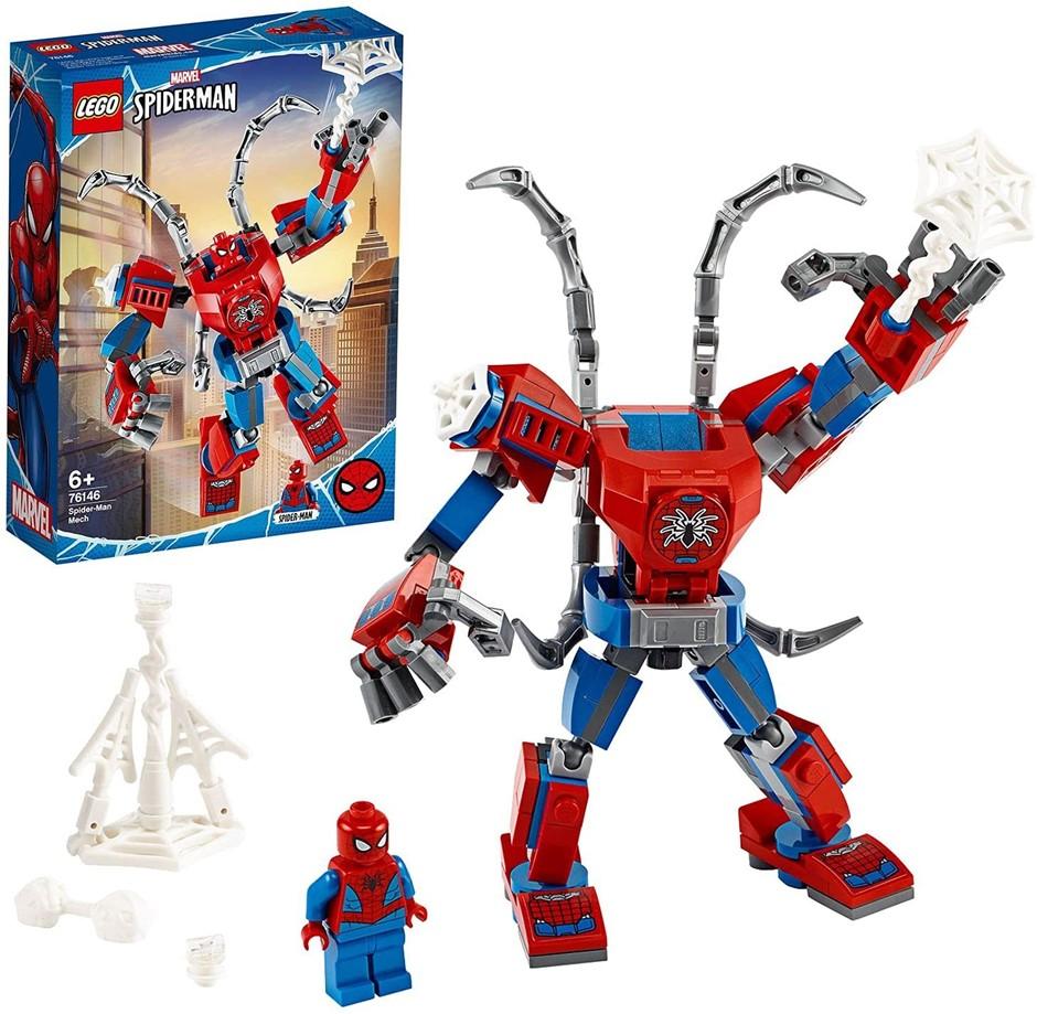 LEGO Marvel Spider-Man: Spider Man Mech 76146 Kids' Superhero Building Toy.