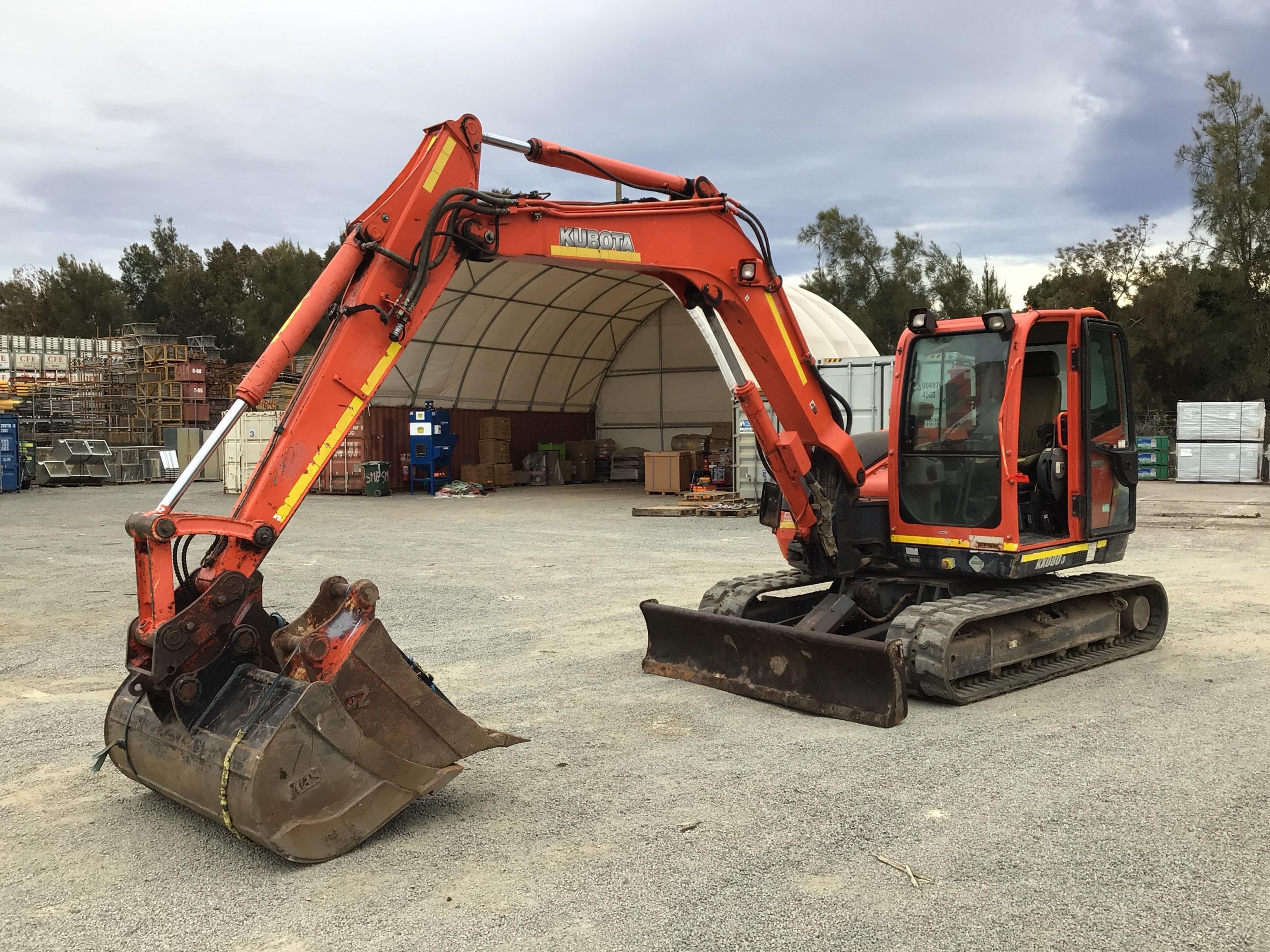 Kubota KX 080-3 Hydraulic Excavator