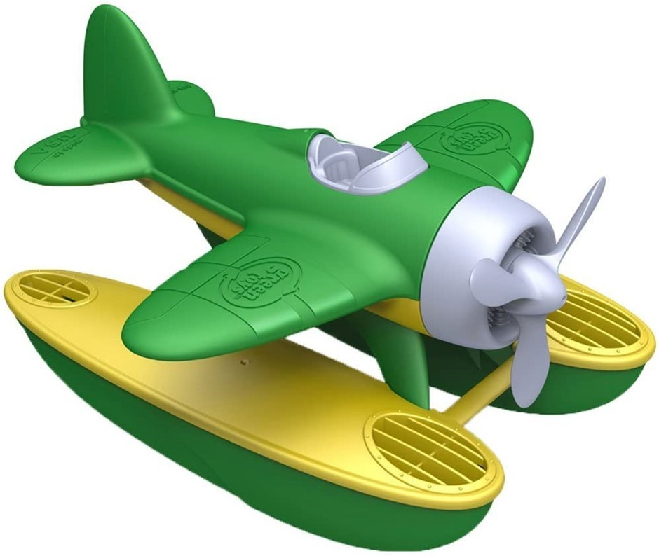 GREEN TOYS Seaplane Water Plane, 22.86 x 22.86 x 12.7cm. Buyers Note - Disc