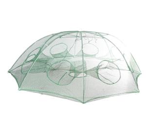 Hexagon Folding Fishing Trapping Net wit