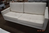 White Leather Four Seater Lounge Settee