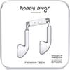 2 x HAPPY PLUGS Earphones, White, Built-In Mic, 3.5mm Headphone Jack, 7711.