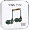 2 x HAPPY PLUGS Wearable Headphones, Jade Green Marble. Buyers Note - Disco