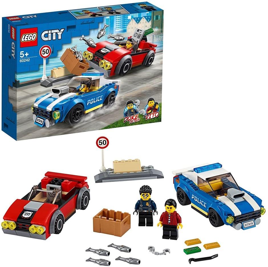 LEGO City Police Highway Arrest Police Toy Building Set, 60242. NB: Slightl