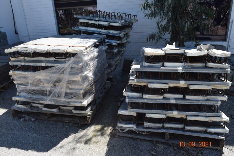 Lot of 107 Reo Bar Concrete Infill Panels