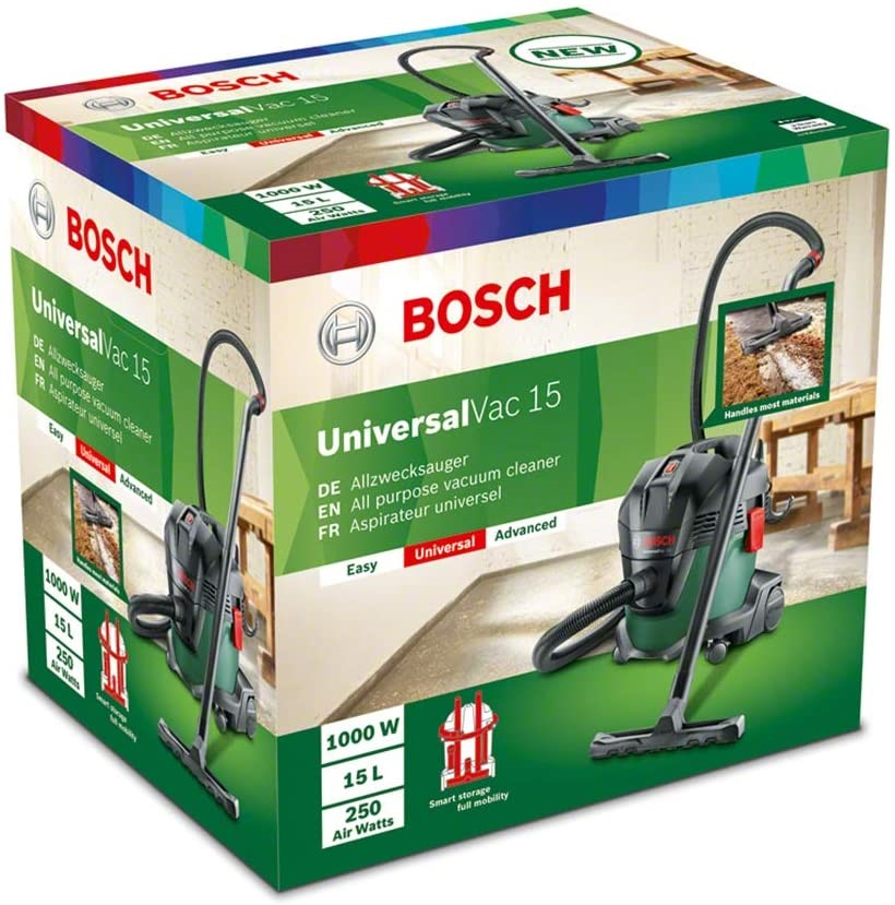 BOSCH Wet and Dry Vacuum Cleaner with Blowing Function. 1000 Watt, 15 Litre