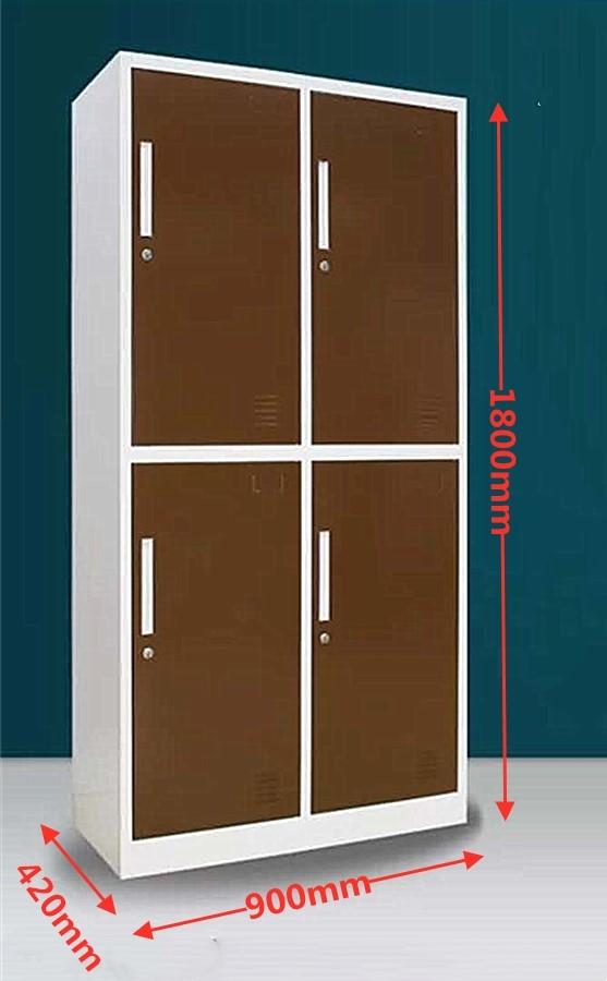 4-Door Locker - Coffee