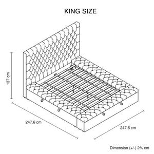 King Size Bedframe Velvet Upholstery Dee