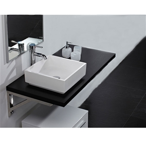 100cm wall mounted countertop for above counter basins in black wood auction graysonline australia. Black Bedroom Furniture Sets. Home Design Ideas