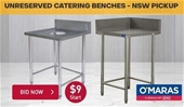Unreserved Catering Benches - NSW Pickup