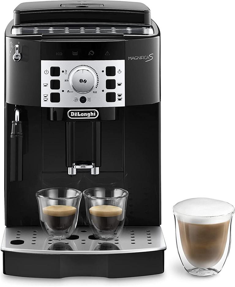 DE'LONGHI Magnifica S Fully Automatic Coffee Machine, 1.8L , Black, ECAM221
