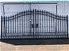 2021 Set of 2 x 8ft Unused Wrought Iron Style Gates
