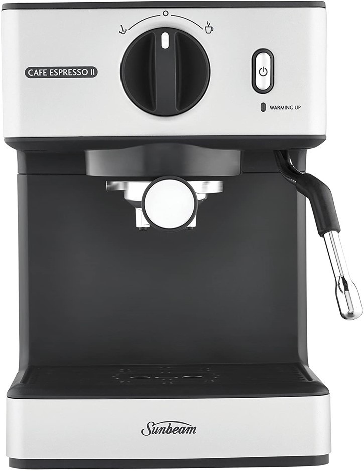 SUNBEAM Cafe Espresso II Coffee Machine, Colour: Silver N.B Minor Use. Buye