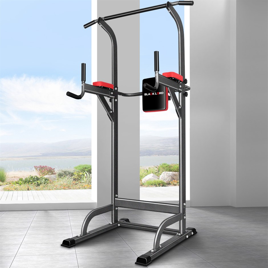 BLACK LORD 4-IN-1 Power Tower Chin Up Bar Pull Up Weight Bench Home Gym