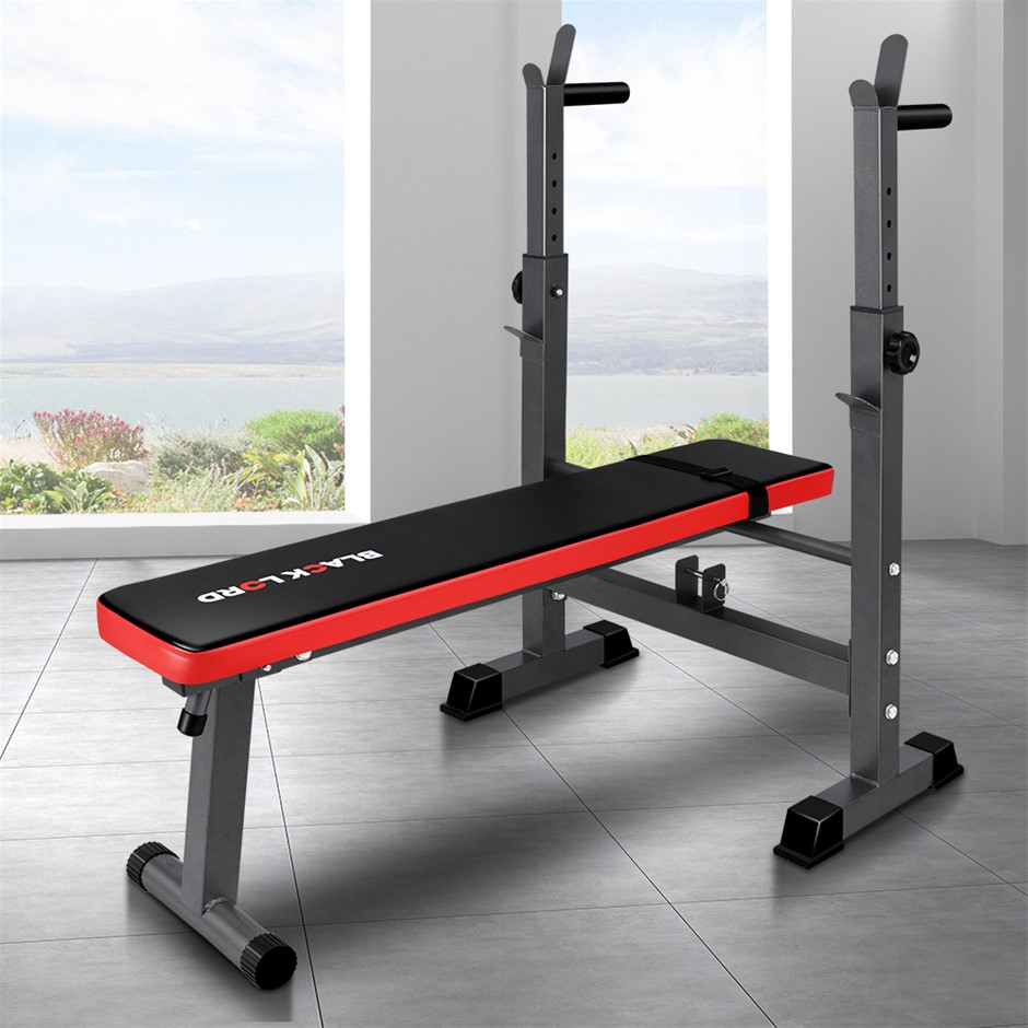 BLACK LORD Weight Bench Press Squat Rack Incline Fitness Home Gym Equipment