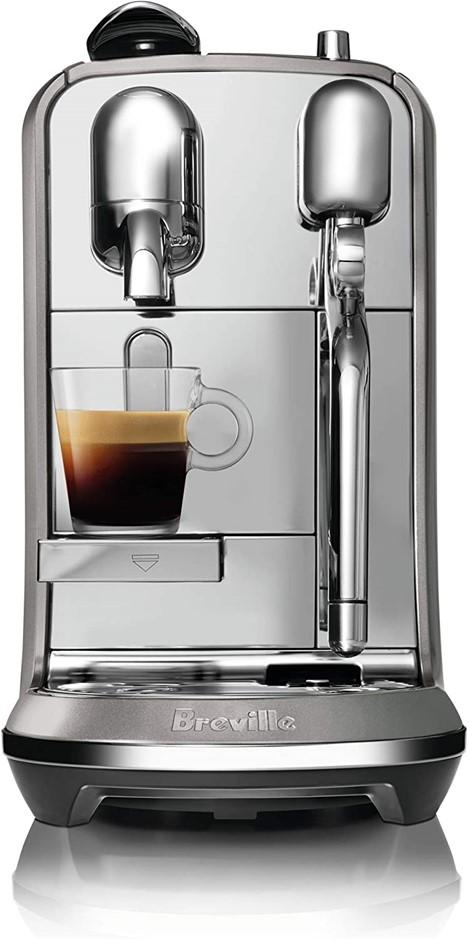 BREVILLE Creatista Plus Espresso Machine, Smoked Hickory, BNE800SHY. NB: Mi