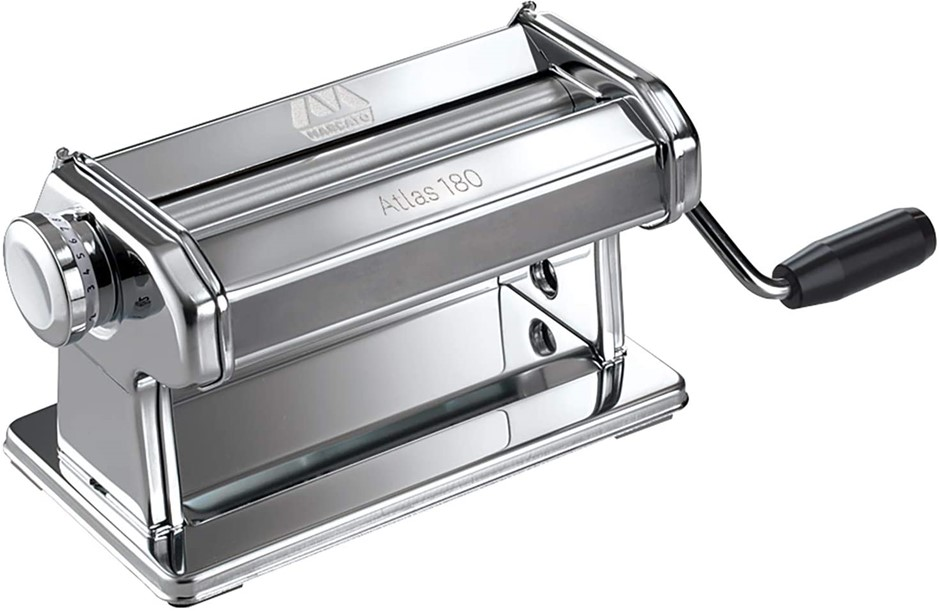 MARCATO Atlas Pasta Machine Pasta Roller, 180mm Extra Wide Roller Stainless