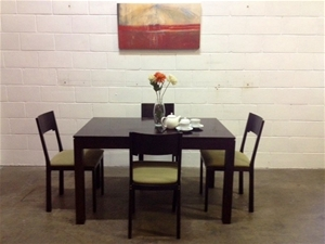 Dining area package 1 x dining table height 76 x width for Dining table depth