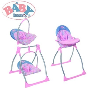 Buy Baby Born 3 In 1 High Chair Changes Into Swing